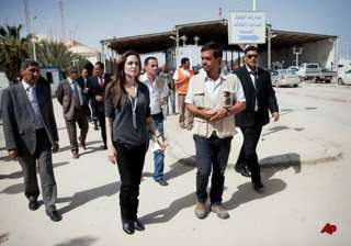 angelina jolie says people fleeing libya need...