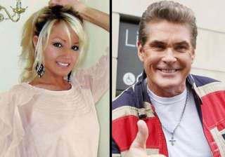 david hasselhoff dating welsh blonde half his age...