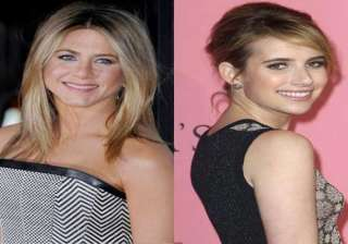 emma roberts star struck by jennifer aniston -...