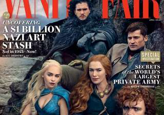 game of thrones cast on vanity cover - India TV