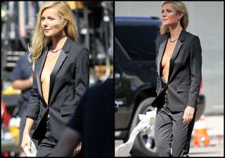 paltrow goes bare under tuxedo view pics - India...