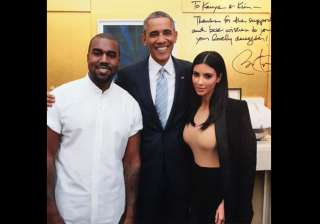 kim kanye poses with president barack obama -...
