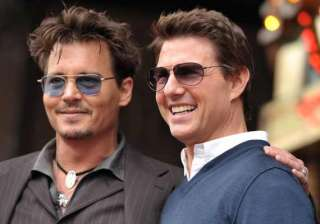 johnny depp tom cruise and hugh jackman in hotel...