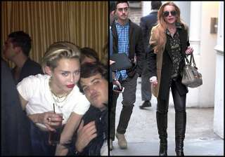 miley lindsay party together - India TV