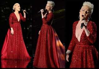 oscars 2014 pink pays tribute to 75 years of...