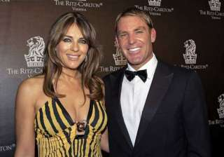 shane warne tweets love messages to liz hurley -...