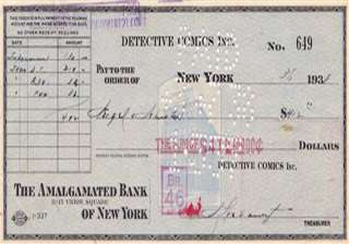 412 cheque that bought superman sold for 160 000...