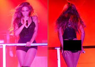 beyonce knowles shows her shapely buttocks in a...