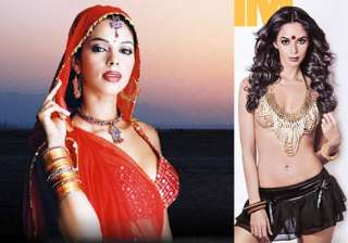 mallika goes topless with a bindi on cover page -...