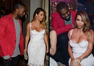 rapper kayne west can t keep her eyes off kim s...