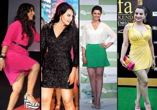 vidya sonakshi parineeti actresses with fat legs...
