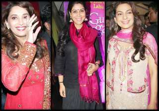 bollywood celebs go pink at gulab gang special...