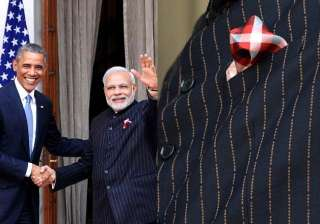 modi s latest style suit with his own name...