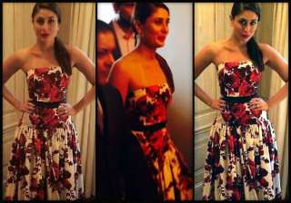 kareena kapoor stuns new york crowd in sexy gown...