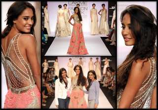 lakme fashion week 2014 lisa haydon walked for...