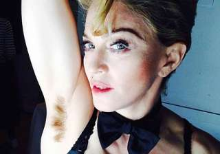 madonna goes outrageous posts a hairy armpit...