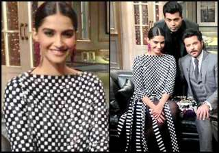 sonam kapoor dons marc jacobs gown for koffee...