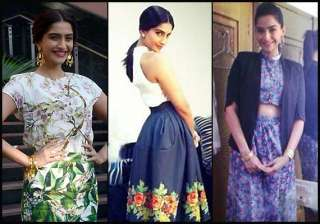 sonam dazzles in vintage looks for bewkoofian...