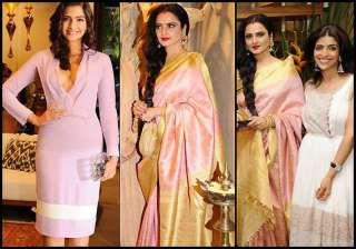 sonam rekha high on style at a store launch see...