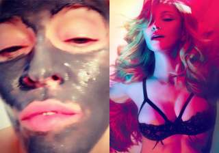 madonna s youthful looks thanks to clay face mask...