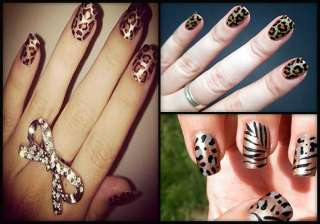 get a roary look with chic leopard print nails...