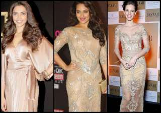 deepika sonakshi kalki love for nude colour see...
