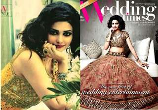prachi desai sparkles as bride on the cover of...
