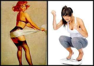 women use odd ways to look slim survey view pics...