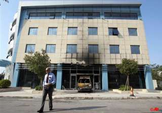 assailants attack microsoft hq in athens - India...