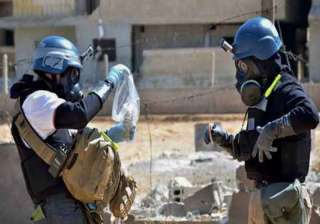 chemical weapons inspectors in syria miss...