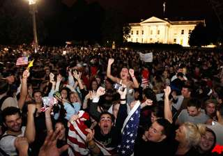 crowds react to news of osama bin laden s death -...