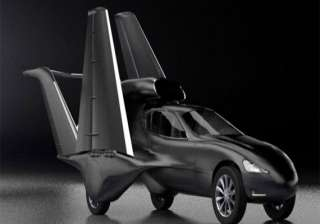 flying car california designers reveal matt black...