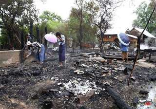 hundreds homeless after buddhist mobs torch...