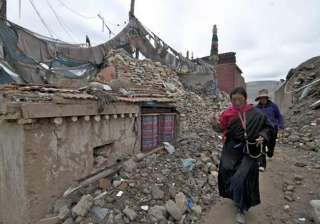 houses collapse in tibet earthquake - India TV
