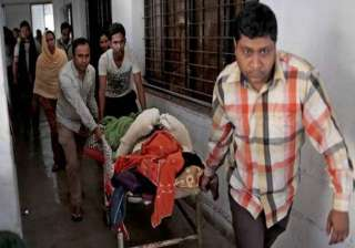 seven injured in guard s accidental firing in...