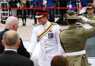 british prince harry arrives in australia to...
