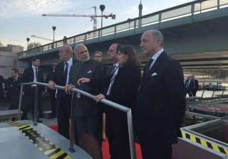 modi has naav pe charcha with french president -...