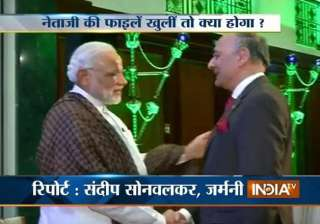netaji s grand nephew meets modi in berlin...