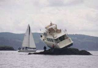 boat gets stuck on rocks near washington - India...