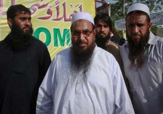 hafiz saeed appears in public after pak claim of...