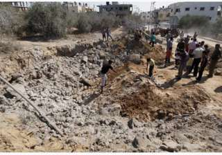 israel strikes rocket launching devices in gaza -...
