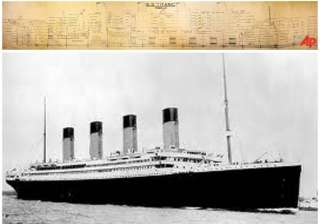 large scale plan of titanic sells for 363 000 -...
