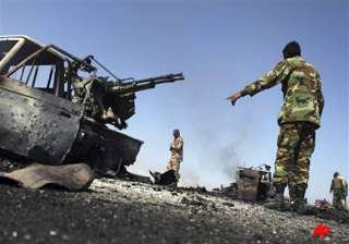 nato leaders vow to oust gaddafi libyan army...