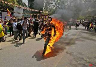 no locals committed self immolations in tibet...