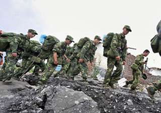no chinese soldiers along loc in pok pak - India...