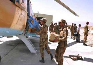 pakistani forces under attack in quake hit areas...