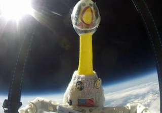rubber chicken sent to space by us school...