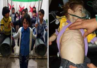 syria unrest children are forced to play with...