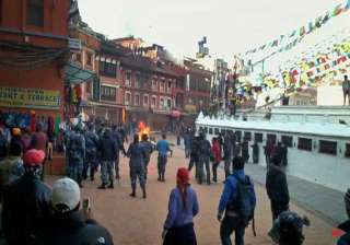 tight security in nepal for possible tibetan...