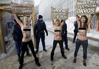 topless ukrainian women stage protest at world...